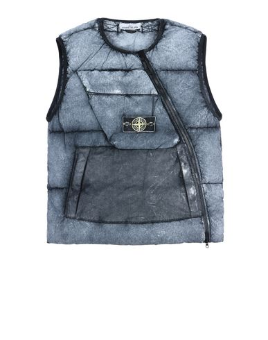 STONE ISLAND Vest G0453 TELA NYLON DOWN WITH DUST COLOUR FROST FINISH