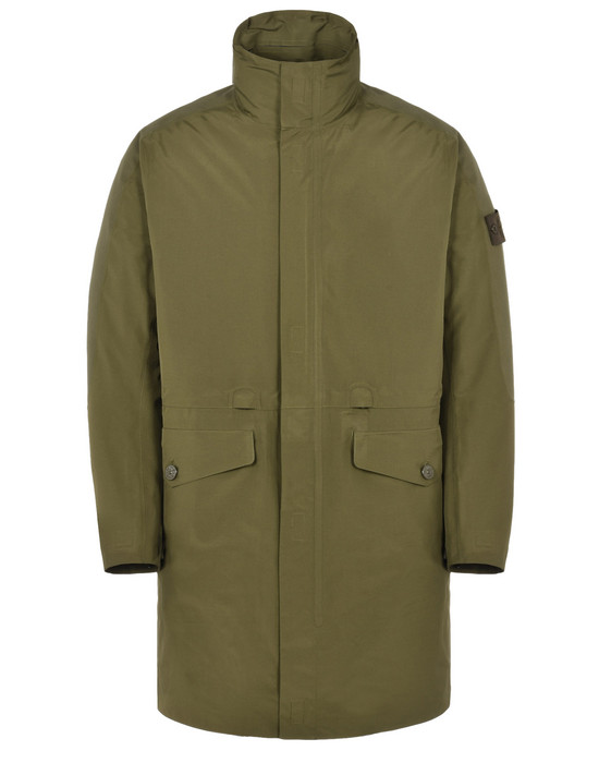STONE ISLAND LONG JACKET 70329 GHOST PIECE_TANK SHIELD FEATURING MULTI LAYER FUSION TECHNOLOGY