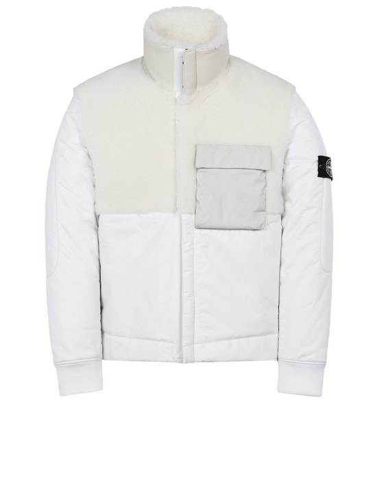 STONE ISLAND LEATHER MID-LENGTH JACKET 00178 FEATHERWEIGHT LEATHER WITH PRIMALOFT® INSULATION TECHNOLOGY
