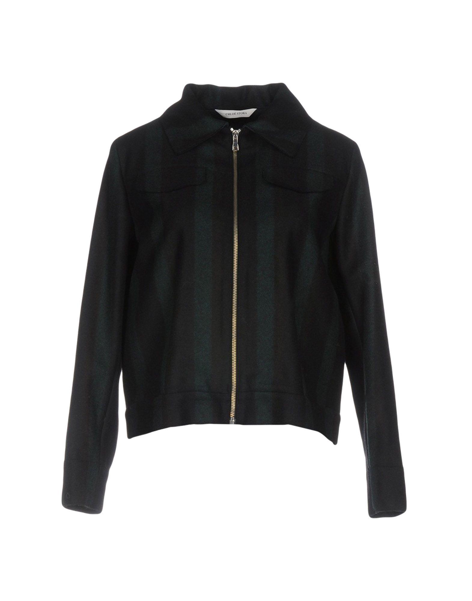 CHLOÉ STORA Куртка куртка бомбер короткая в полоску с вышивкой 100