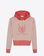 SAINT LAURENT Stricktops D Saint Laurent Université Sweatshirt aus rot meliertem Frottee f