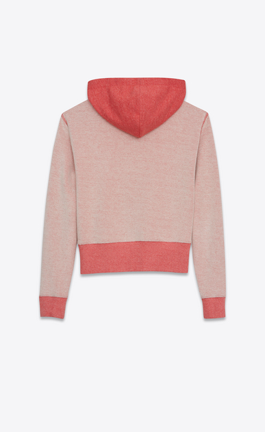 SAINT LAURENT Sportswear Tops Woman SAINT LAURENT UNIVERSITÉ Sweatshirt in Heather Red French Terrycloth b_V4