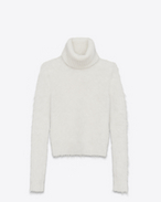 SAINT LAURENT Knitwear Tops D Turtleneck Sweater in Ivory Mohair f