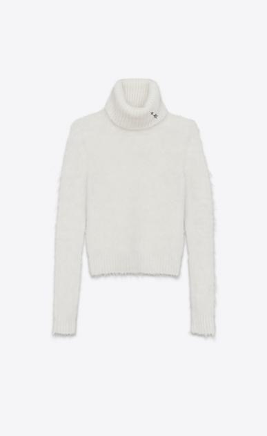 SAINT LAURENT Knitwear Tops D Turtleneck Sweater in Ivory Mohair v4