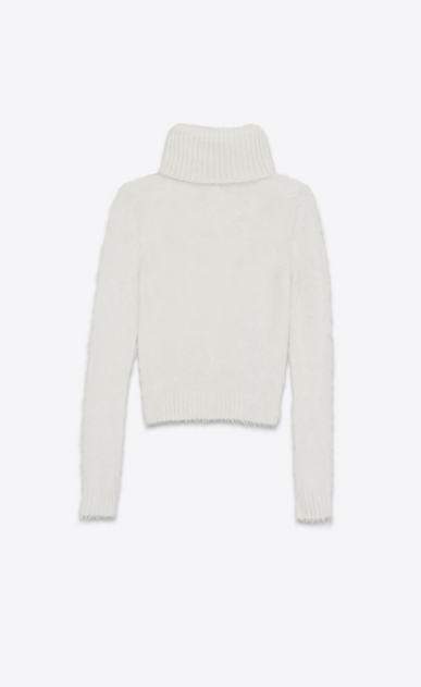 SAINT LAURENT Knitwear Tops D Turtleneck Sweater in Ivory Mohair b_V4