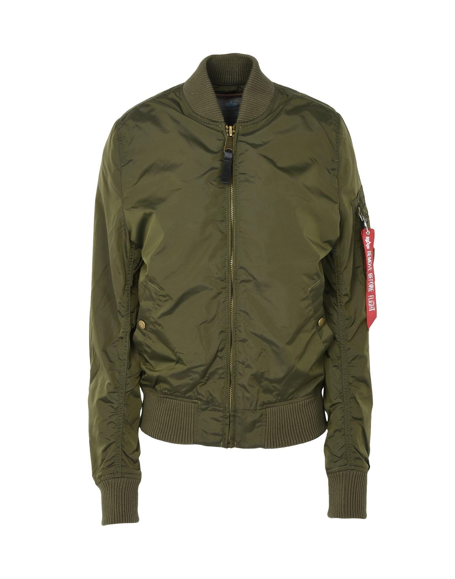 ALPHA INDUSTRIES INC. Damen Jacke Farbe Militärgrün Größe 3