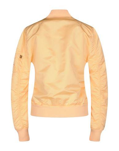 Фото 2 - Женскую куртку ALPHA INDUSTRIES INC. цвет абрикосовый