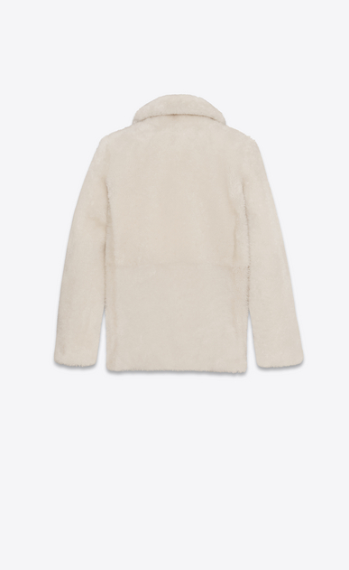 SAINT LAURENT Cappotti D Cappotto CABAN écru in Shearling b_V4