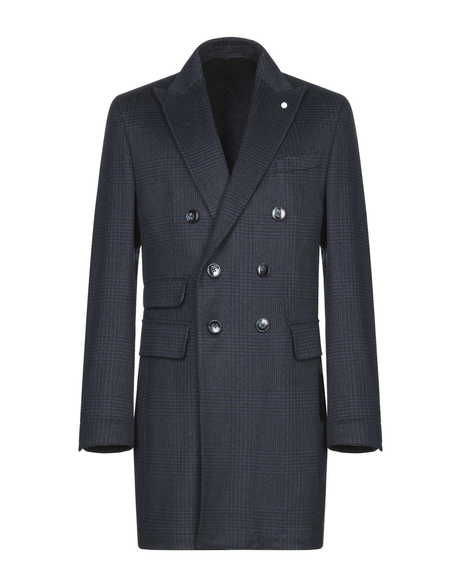 LUIGI BIANCHI Mantova Пальто полуприлегающее пальто с ветрозащитным клапаном snowimage
