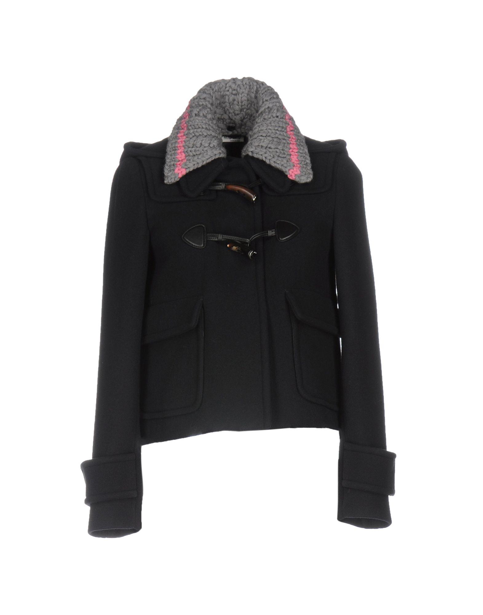 MIU MIU Пальто пальто зима кожаные рукава цена