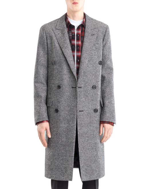 lanvin double-breasted coat  men