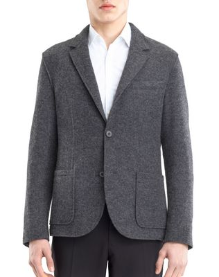 RIB KNIT DECONSTRUCTED JACKET