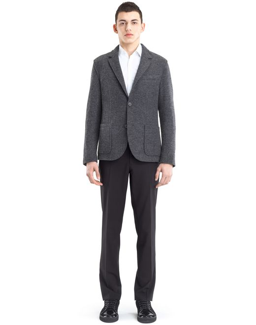 lanvin rib knit deconstructed jacket men