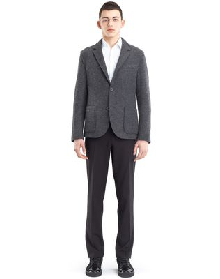 LANVIN RIB KNIT DECONSTRUCTED JACKET Jacket U r