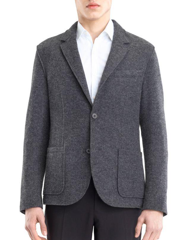 LANVIN RIB KNIT DECONSTRUCTED JACKET Jacket U f