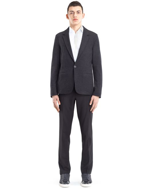 lanvin jersey deconstructed jacket men