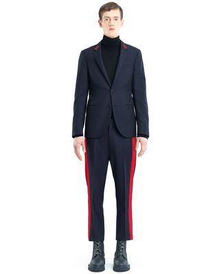 SLIM-FIT JACKET WITH PATCHES