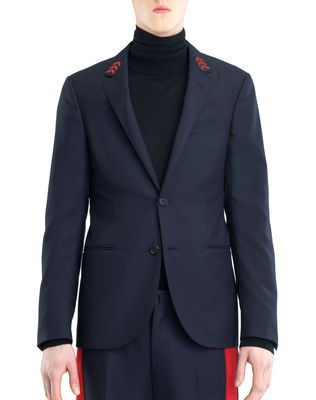 LANVIN SLIM-FIT JACKET WITH PATCHES Jacket U f