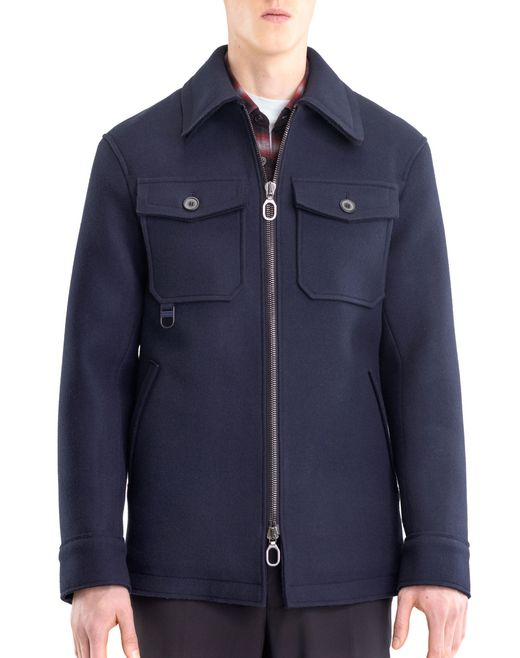 lanvin compact felt safari jacket men
