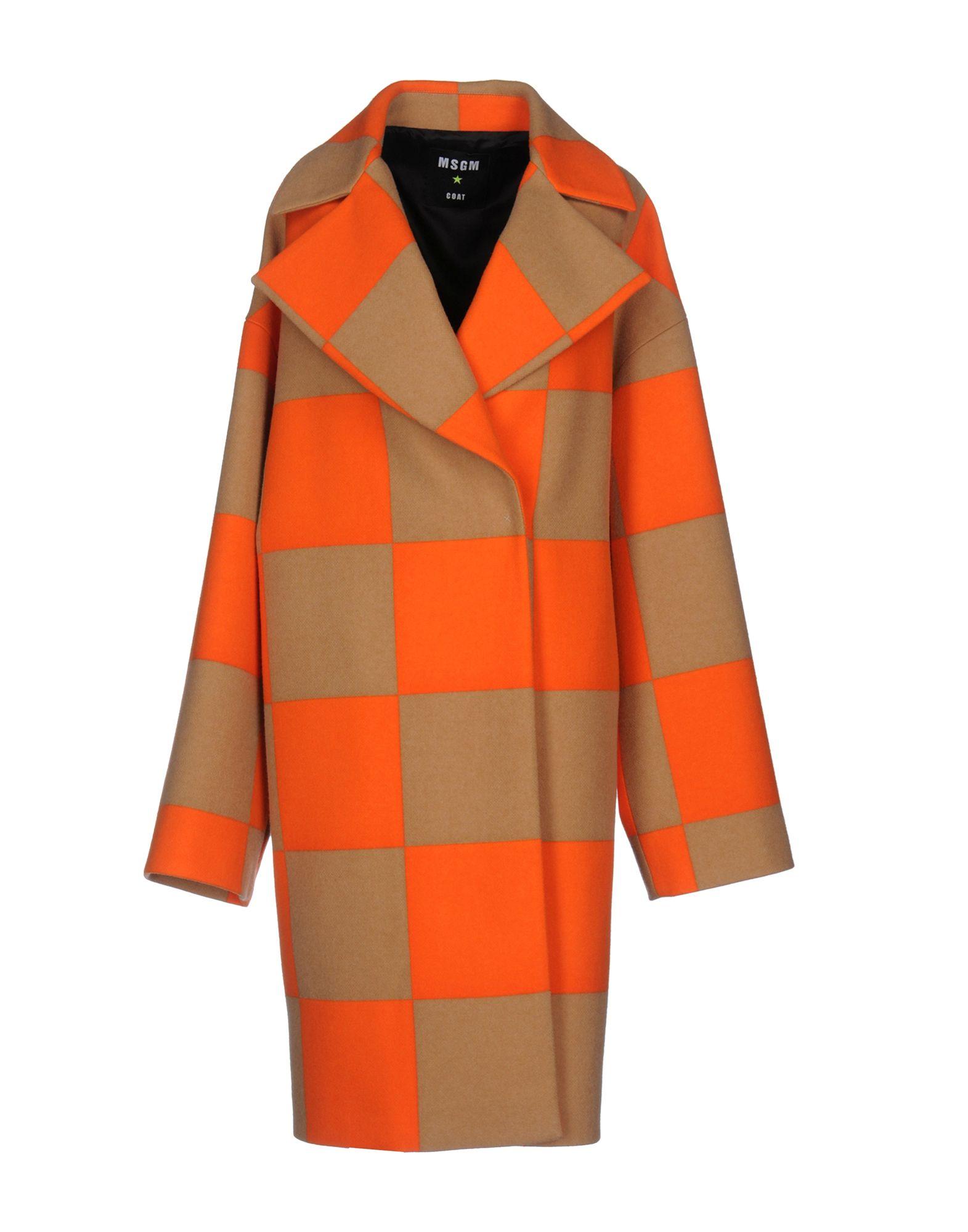 MSGM Пальто msgm двубортное пальто в клетку