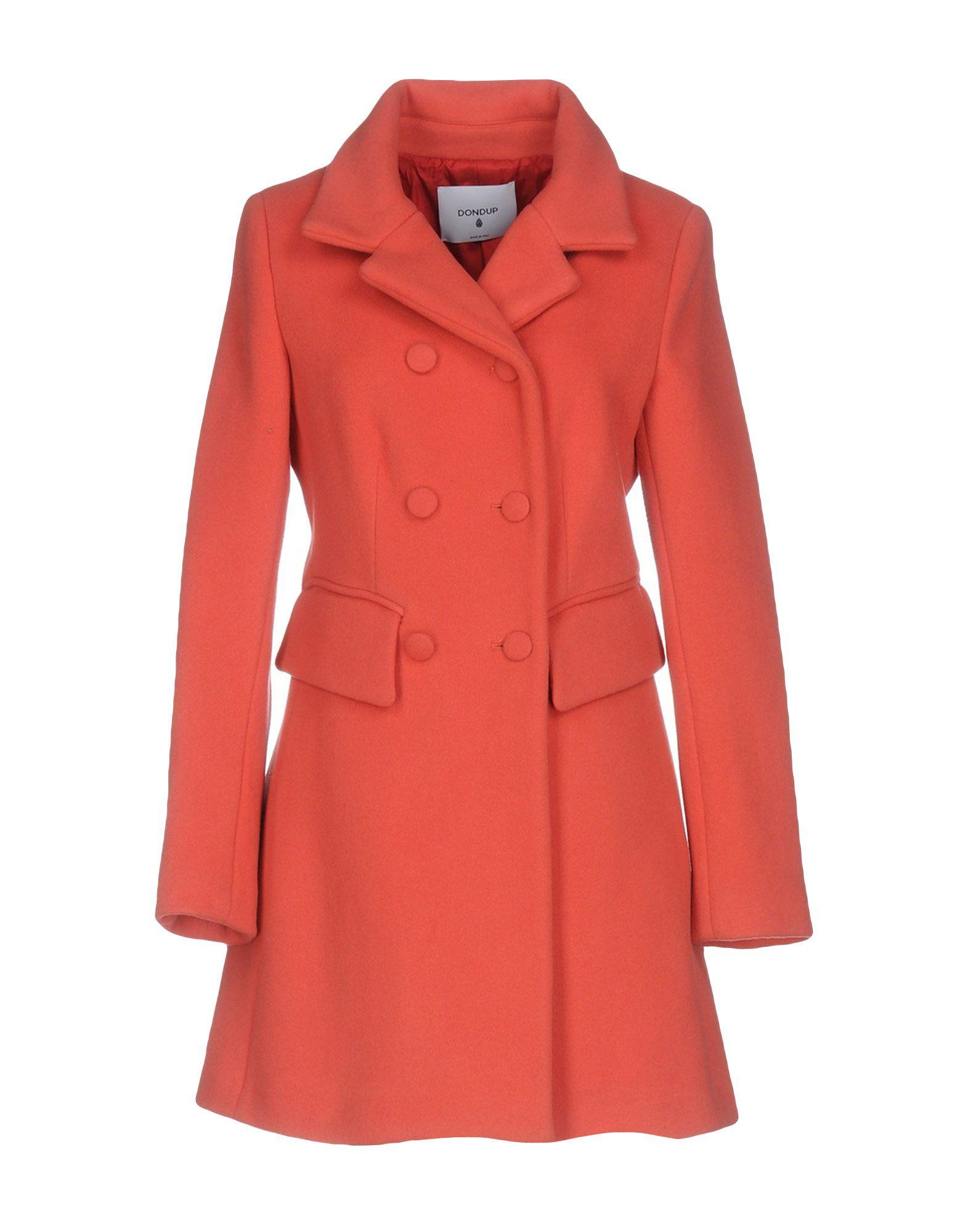 DONDUP Пальто полуприлегающее пальто с ветрозащитным клапаном snowimage