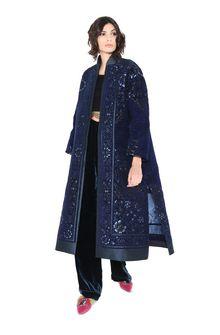 ALBERTA FERRETTI DETAILS KIMONO-COAT Long coat Woman a
