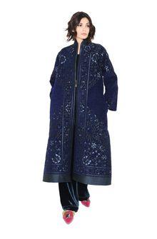 ALBERTA FERRETTI DETAILS KIMONO-COAT Long coat Woman f