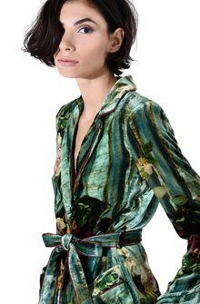 ALBERTA FERRETTI Pyjama jacket with maxi flower Blazer D a