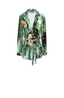 ALBERTA FERRETTI Pyjama jacket with maxi flower Blazer Woman d