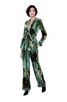 ALBERTA FERRETTI Pyjama jacket with maxi flower Blazer Woman f