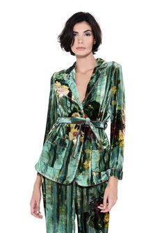 ALBERTA FERRETTI Pyjama jacket with maxi flower Blazer Woman r