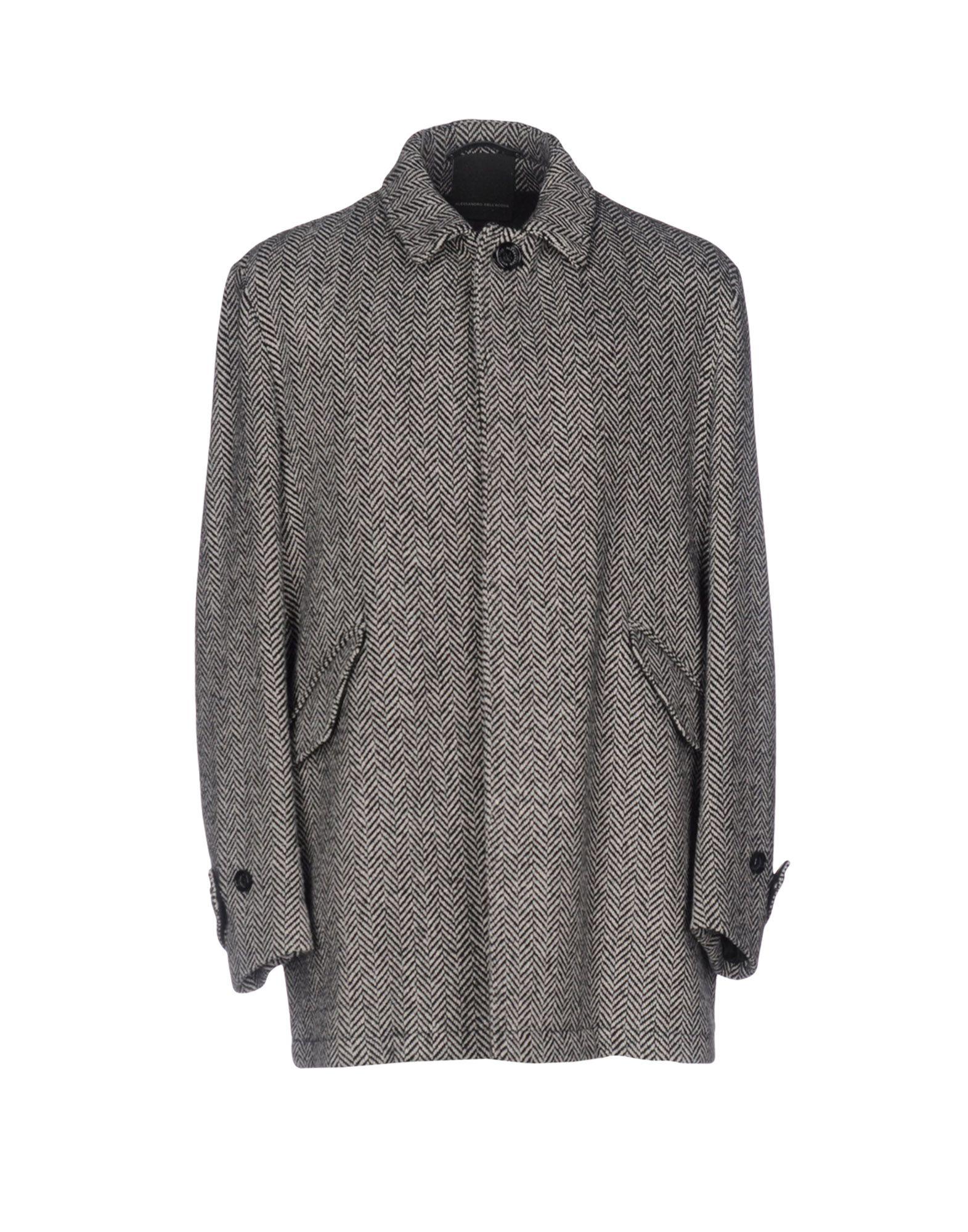 ALESSANDRO DELL´ACQUA Herren Mantel Farbe Schwarz Größe 5