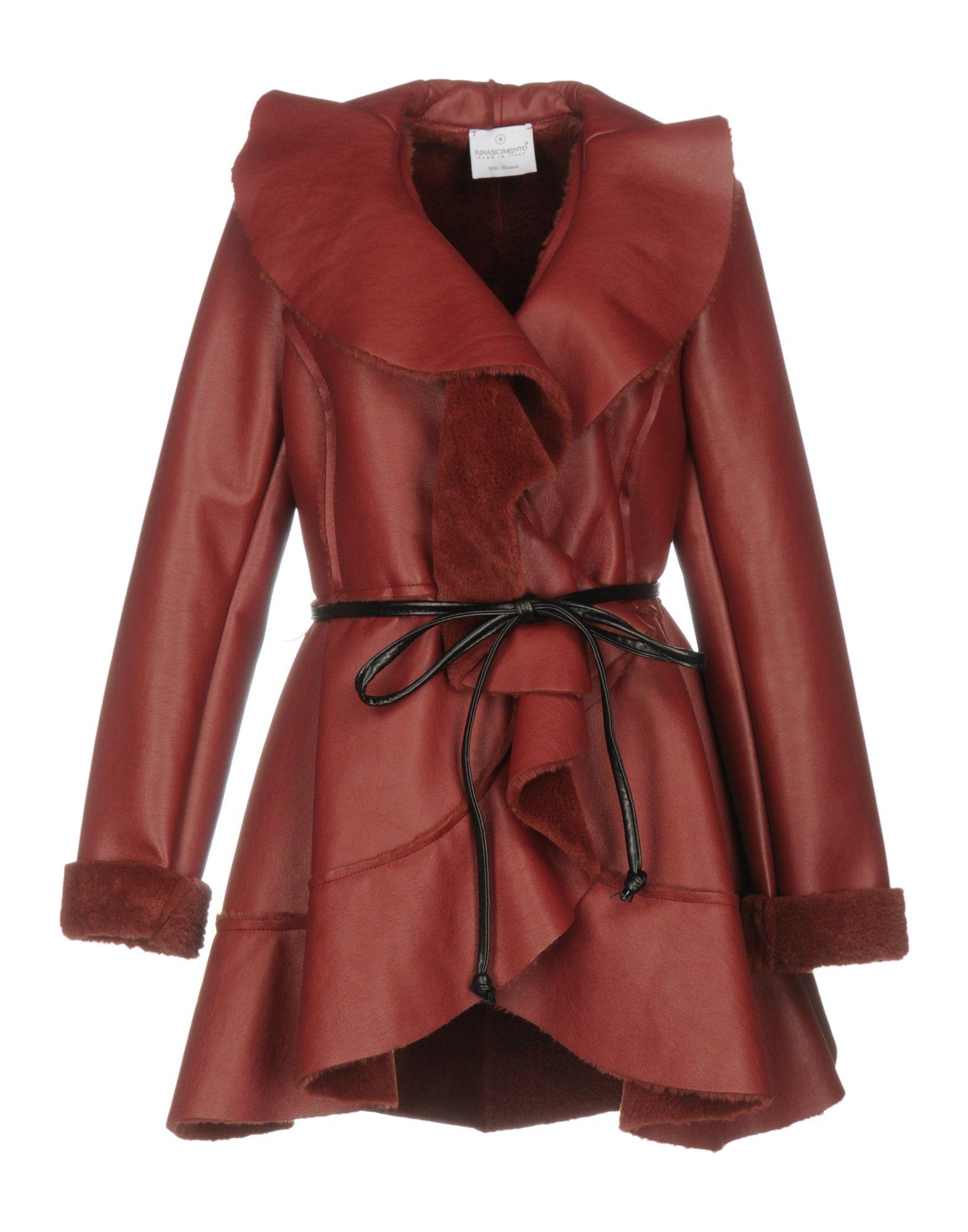 RINASCIMENTO Damen Mantel Farbe Bordeaux Größe 5