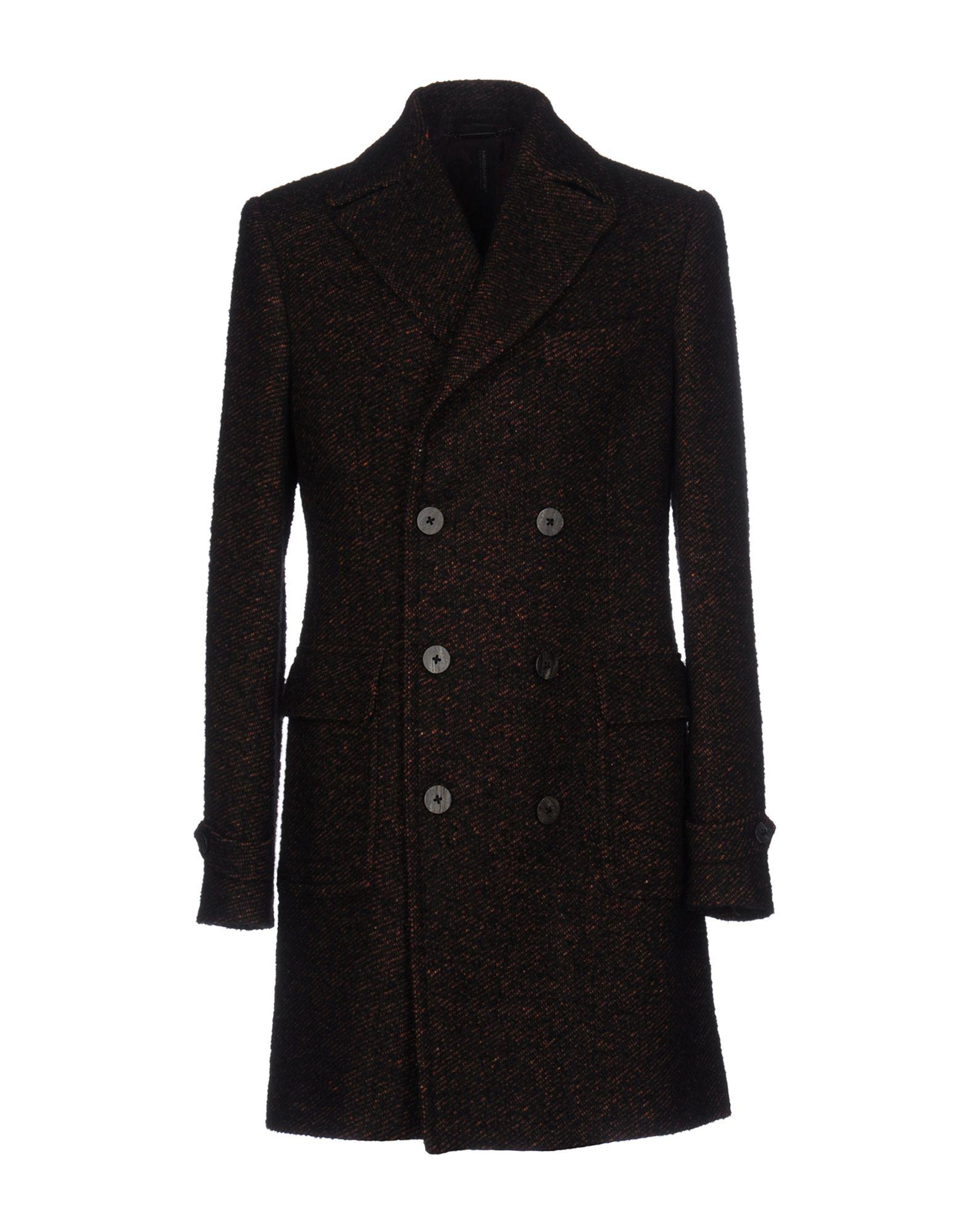 MESSAGERIE Herren Mantel Farbe Dunkelbraun Größe 5