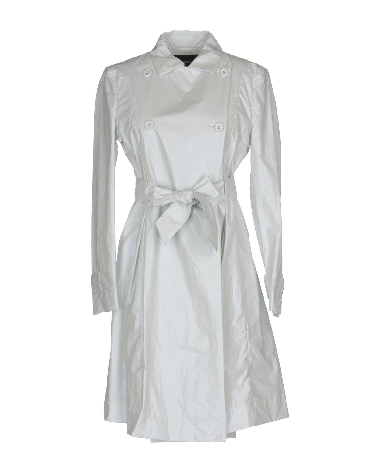 EMPORIO ARMANI Damen Lange Jacke Farbe Hellgrau Größe 2