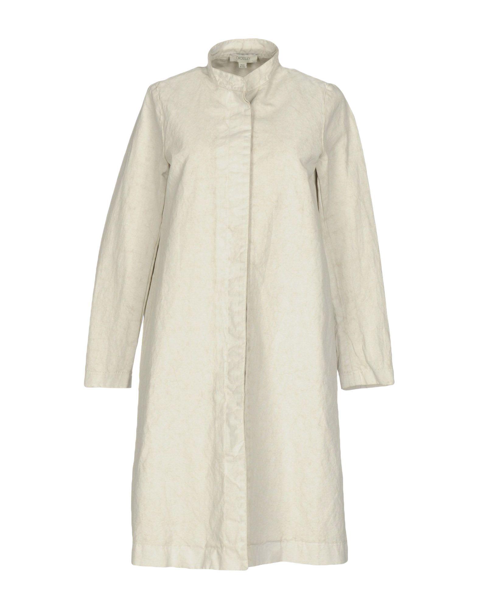 CROSSLEY Damen Lange Jacke Farbe Hellgrau Größe 3