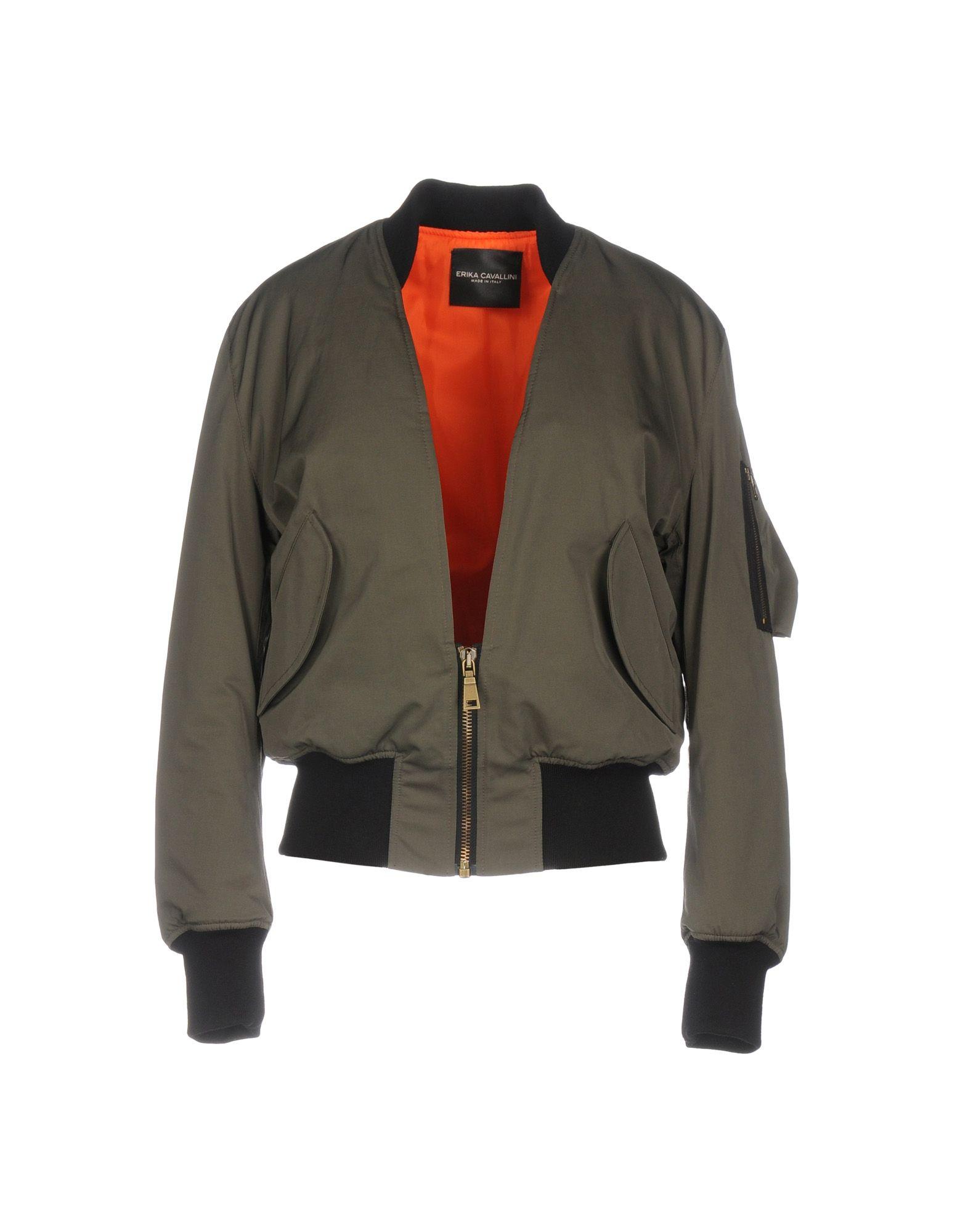 ERIKA CAVALLINI Damen Jacke Farbe Militärgrün Größe 4