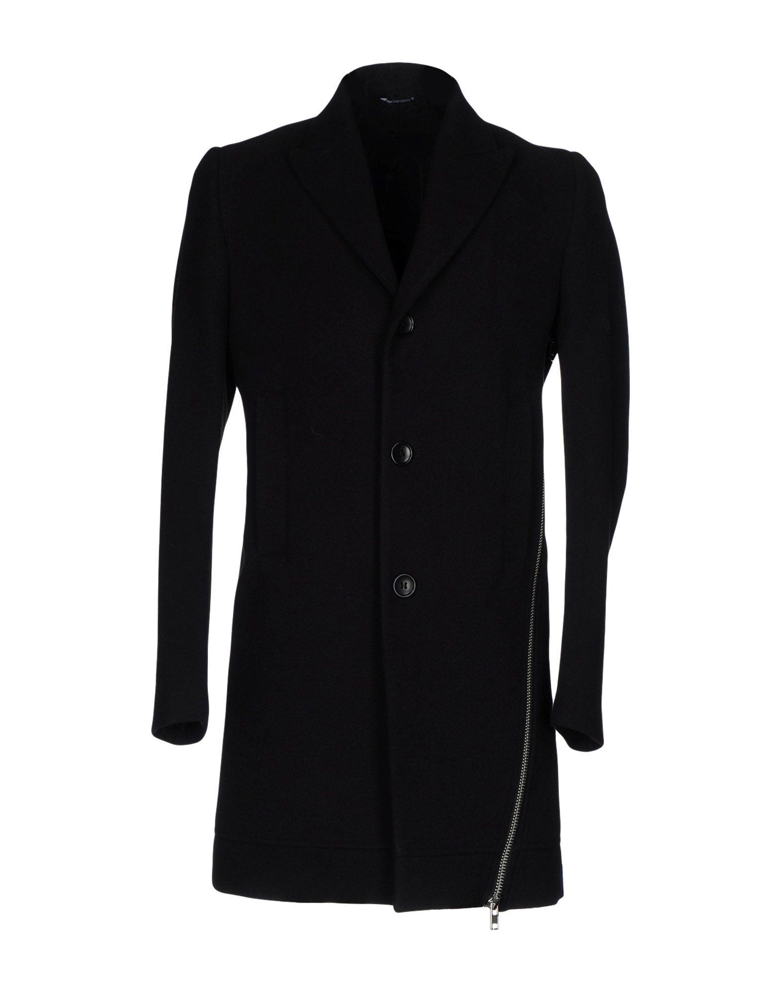 DANIELE ALESSANDRINI Herren Mantel Farbe Schwarz Größe 2