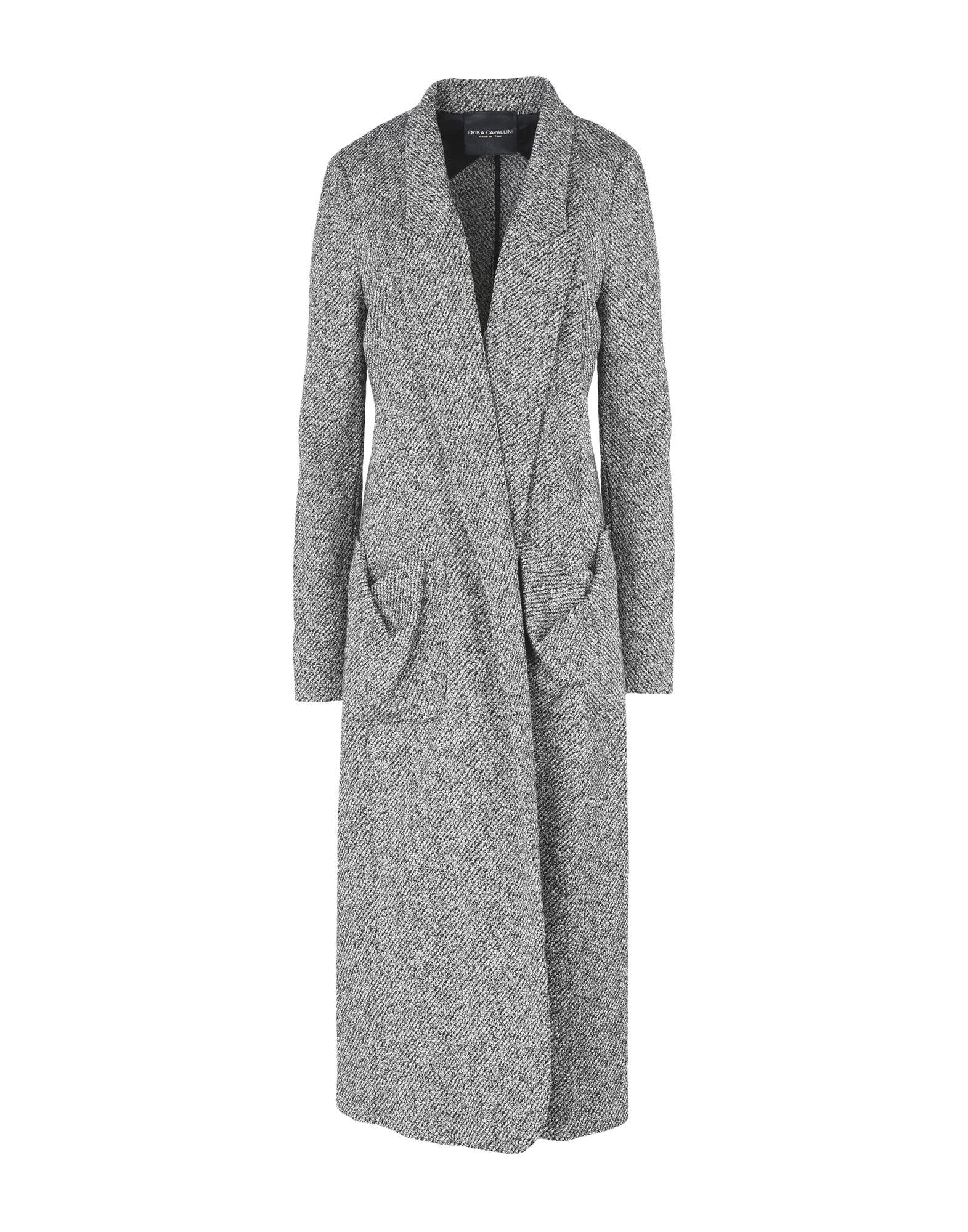 ERIKA CAVALLINI Damen Lange Jacke Farbe Schwarz Größe 5