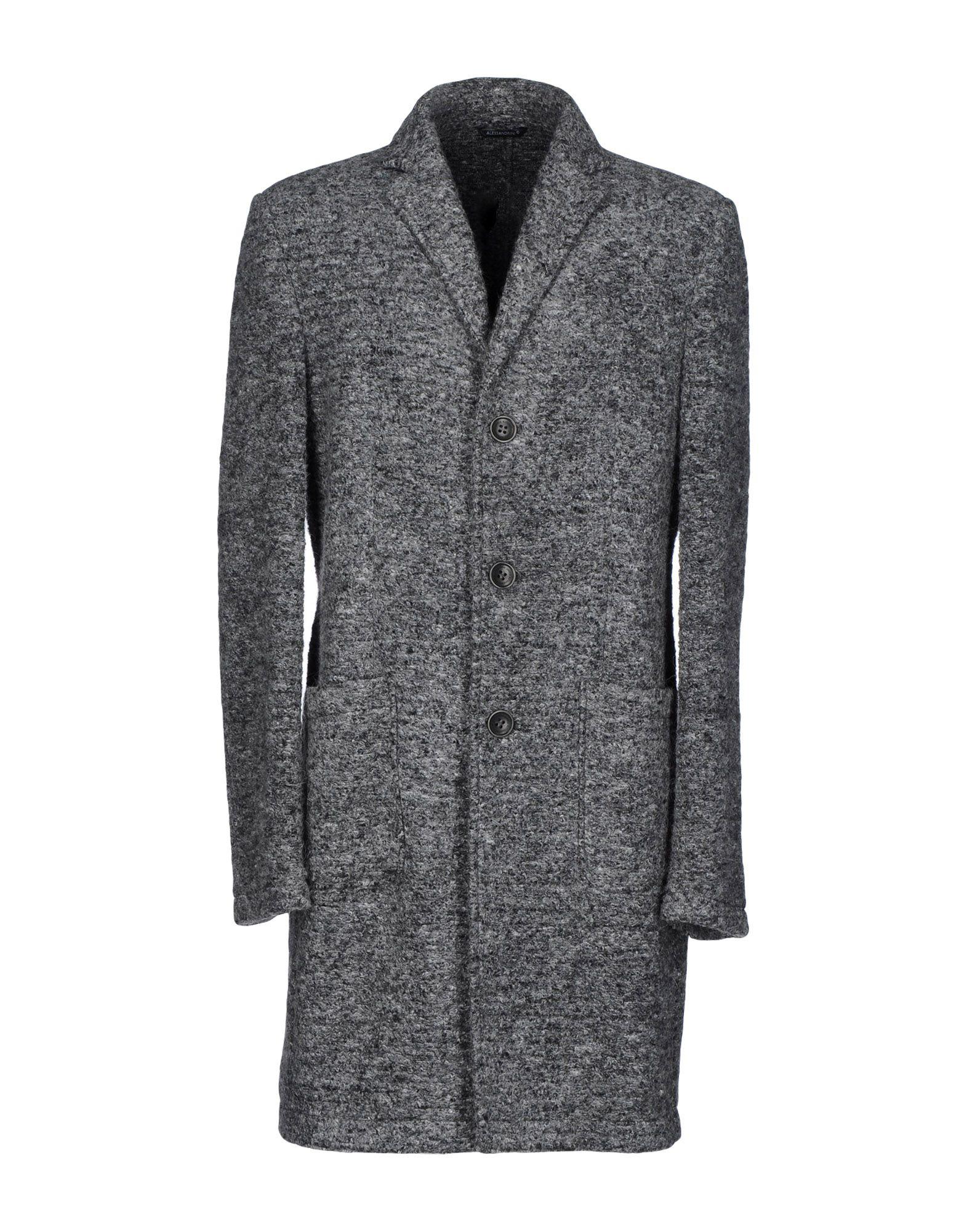 DANIELE ALESSANDRINI Herren Mantel Farbe Grau Größe 3
