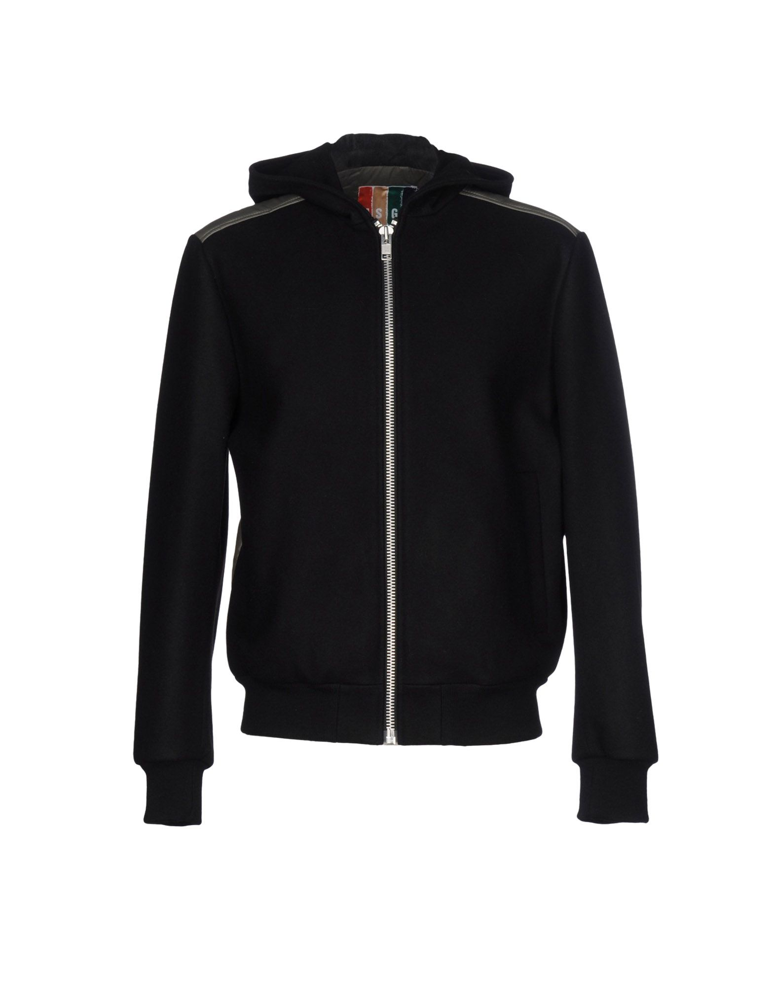 MSGM Herren Jacke Farbe Schwarz Größe 3