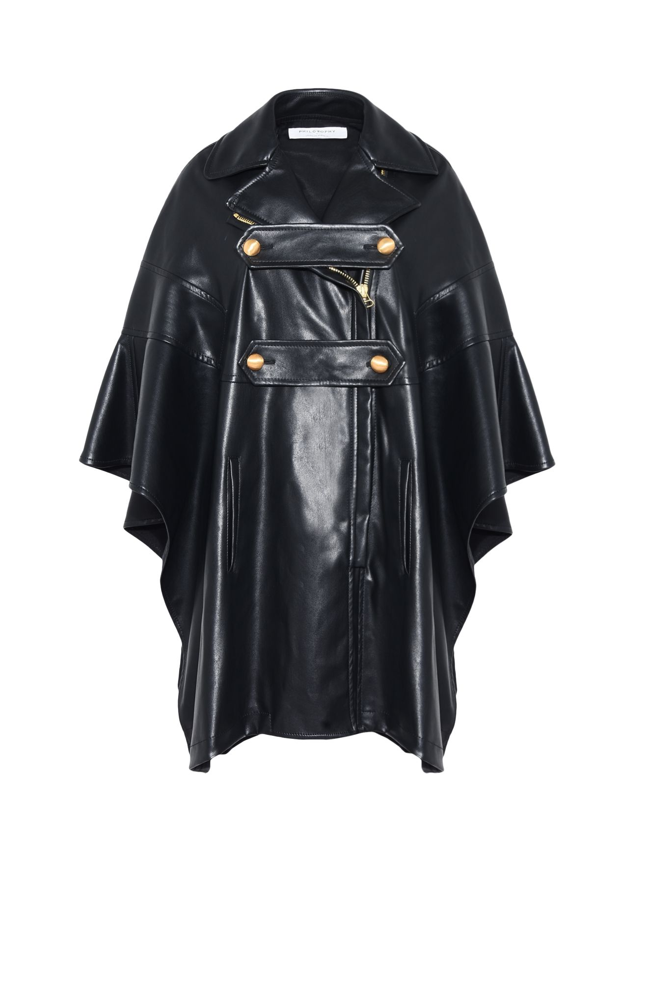 KITTEN CAPE-BIKER JACKET