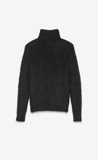 SAINT LAURENT Knitwear Tops U Turtleneck Sweater in Black Mohair and Wool b_V4