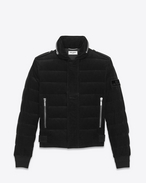 SAINT LAURENT Mäntel U Down Jacket in Black Corduroy f
