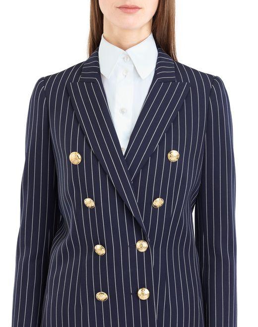 lanvin pinstripe gabardine jacket women