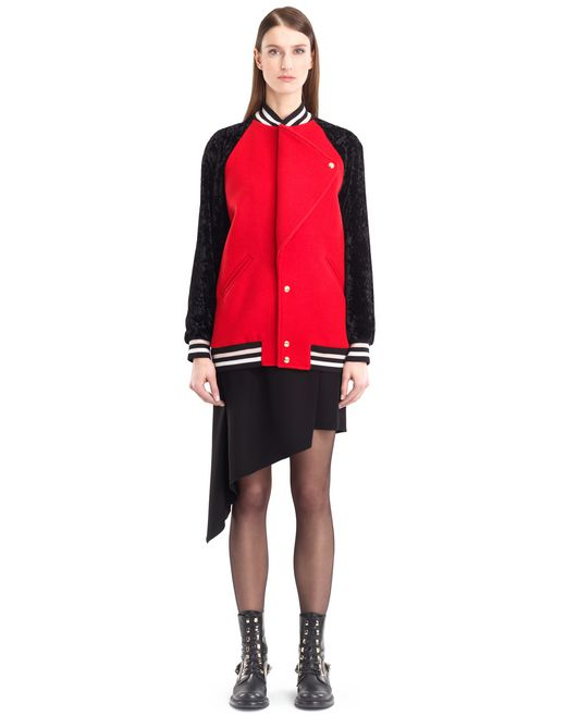 lanvin wool cloth teddy jacket women
