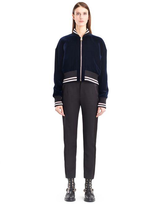 lanvin flowy velvet jacket women