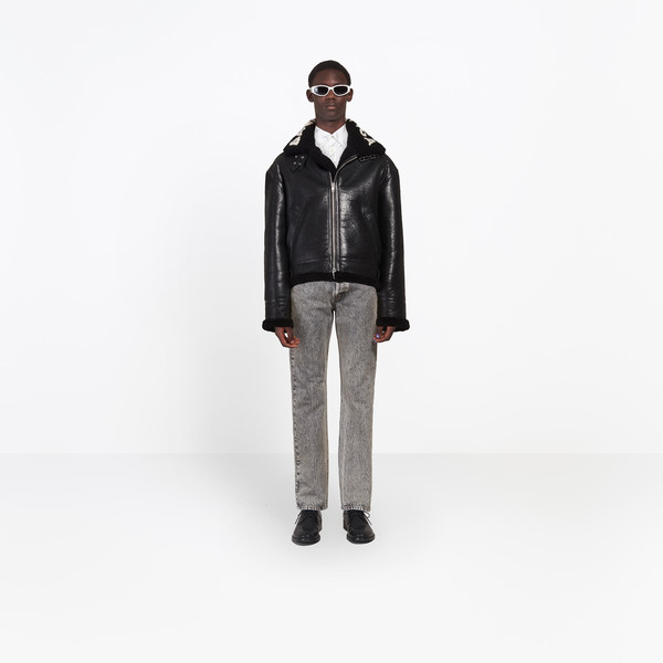 Bomber in shearling
