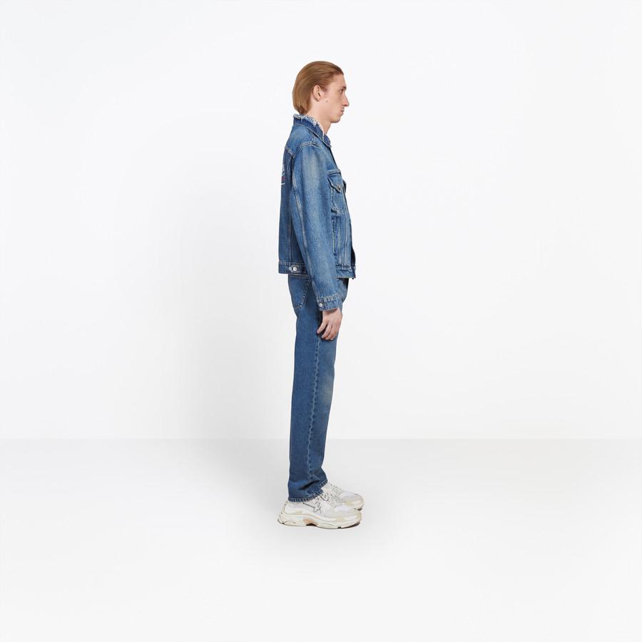 BALENCIAGA Denim Embroidered Jacket Jacket U i