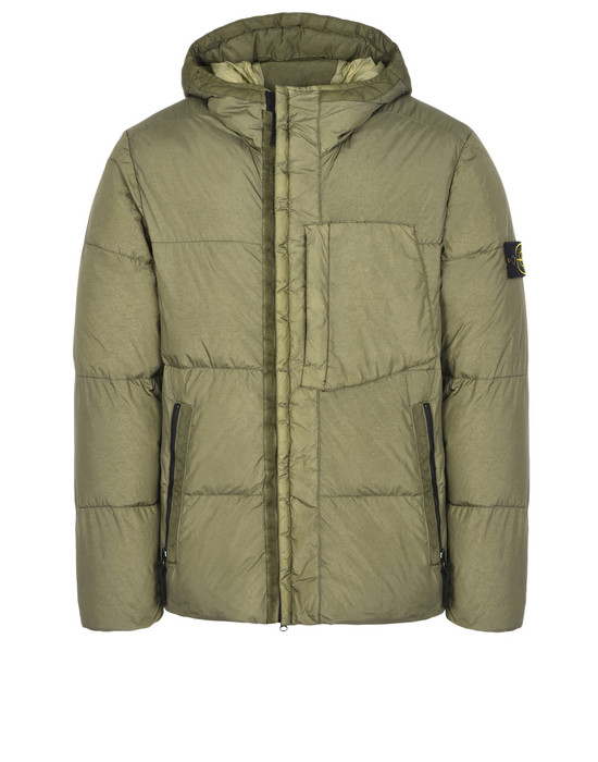 Mid-length jacket 40223 GARMENT DYED CRINKLE REPS NY DOWN STONE ISLAND - 0